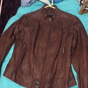 Bernardo Jackets & Coats - Brown faux leather jacket